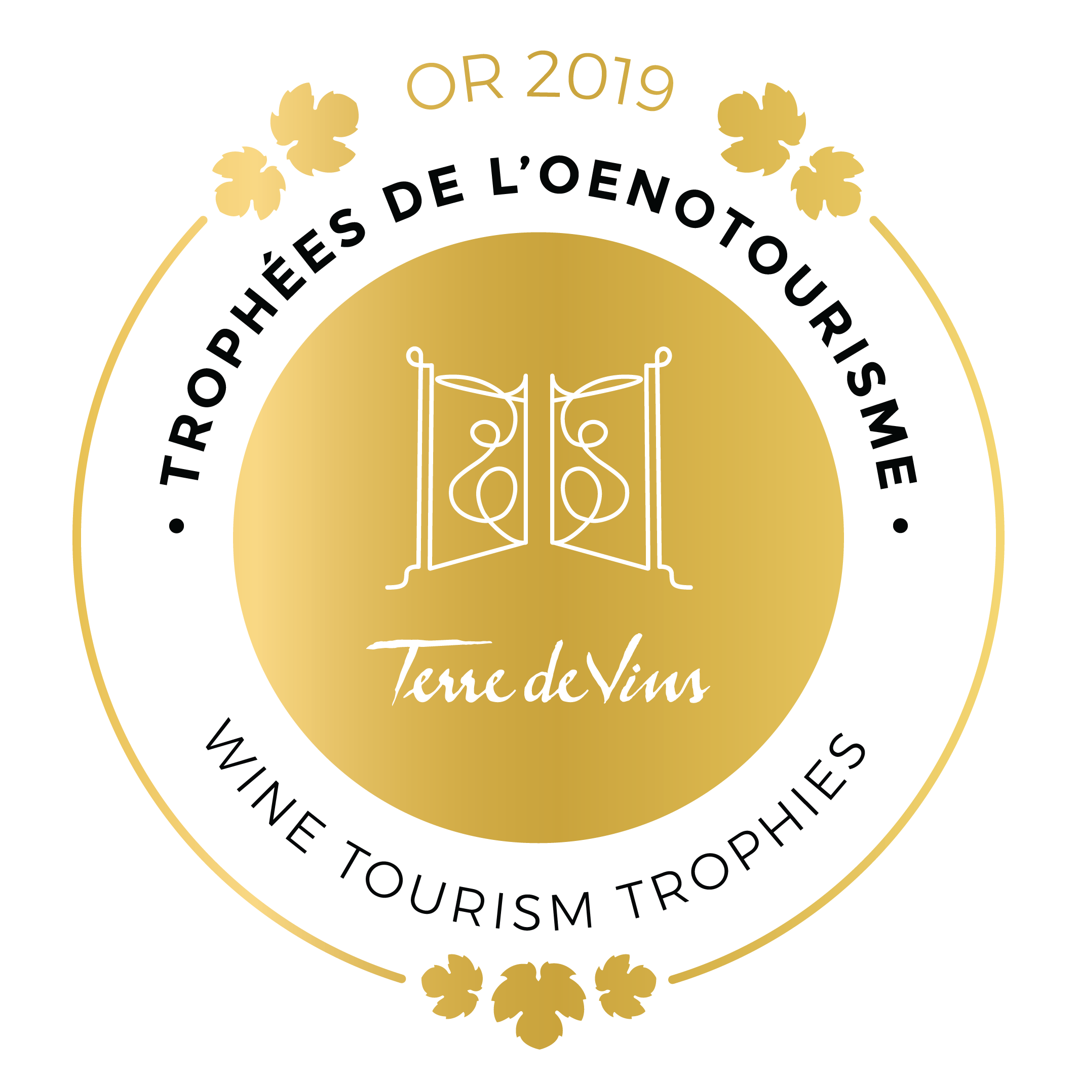 Gouden medaille - Wine Tourism Trophies 2019
